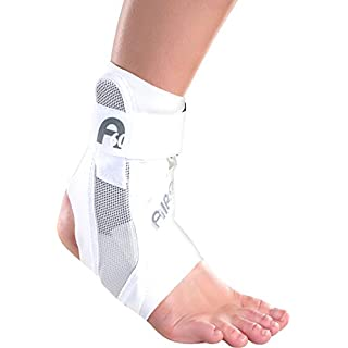 Aircast White A60 Ankle Brace - Exclusive Brand New All Sizes As Worn by Andy Murray - Superb Yet Lightweight Support To Help Prevent & Treat Ankle Sprains Fractures Instability Tarsal Tunnel Syndrome Large Right