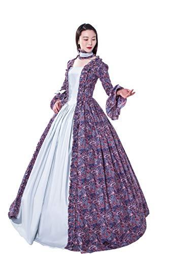 KEMAO Viktorianisches Rokoko-Kostüm Damen Kleid Party Kostüm Maskerade - - Large:Höhe 65/67
