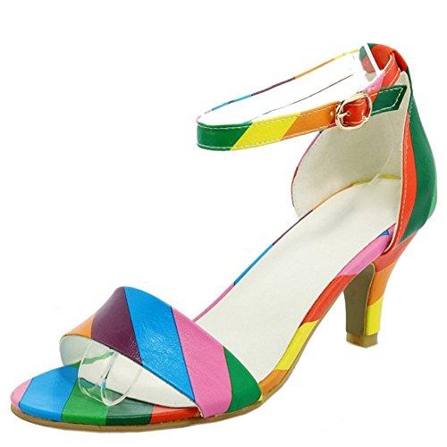 TAOFFEN-Women-Basic-Ankle-Buckle-Strap-Kitten-Heel-Sandals