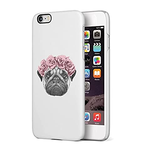 Floral Pug Tumblr Apple iPhone 6 , iPhone 6S Snap-On Hard Plastic Protective Shell Case Cover Tasche Handy Hülle