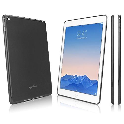 BoxWave Arctic Frost Apple iPad Air 2Crystal Slip-Colorful Slim Fit Frosted TPU Gel Haut Schutzhülle für Schutz, der dauerhaft Anti-Rutsch (Smoke Grau) Smoke Tpu Gel