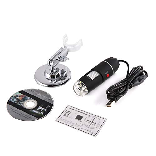 1600x 2MP 8 LED USB 2.0 Elektronendigitalmikroskop Handheld tragbares biologisches Endoskop USB-Mikroskop -Schwarz & Blau