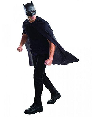 ske als lizenziertes Superhelden Kostüm Set für Karneval (Batman Umhang Und Maske Für Erwachsene)