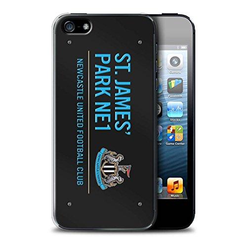 Offiziell Newcastle United FC Hülle / Case für Apple iPhone 5/5S / Pack 6pcs Muster / St James Park Zeichen Kollektion Schwarz/Blau