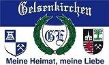 Fanfahne Gelsenkirchen Fahne Meine Heimat Meine Liebe Grösse 1,50x0,90