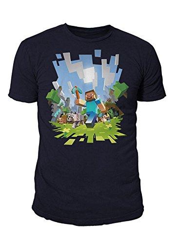 Minecraft - Premium Herren T-Shirt - Adventure (Navy) (S-XL) (L)
