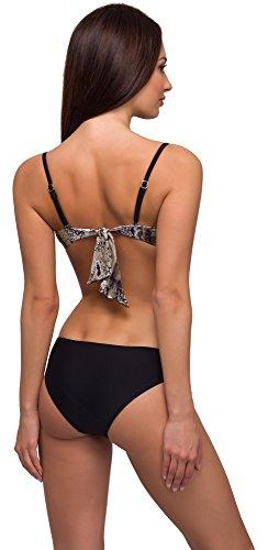 Merry Style Damen Bikini Modell: N3 34/A Schwarz/Beige