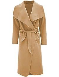 Frauen Kim Kardashian Große Wasserfall Gürtel Lange Mantel Wolle Umhang Jacke