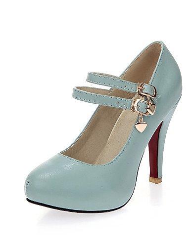 WSS 2016 Chaussures Femme-Bureau & Travail / Décontracté-Noir / Bleu / Rose / Blanc-Talon Aiguille-Talons / Bout Arrondi-Talons-Polyuréthane white-us5 / eu35 / uk3 / cn34