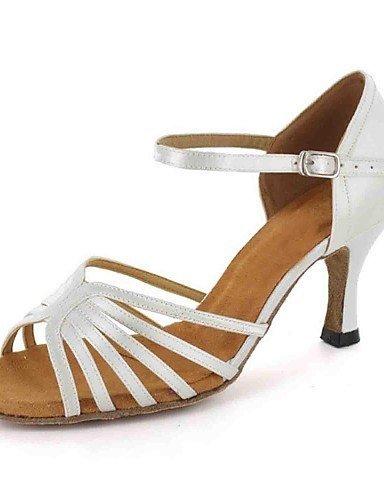 ShangYi Chaussures de danse ( Noir/Blanc ) - Personnalisable - Talons personnalisés - Similicuir - Danse latine Black