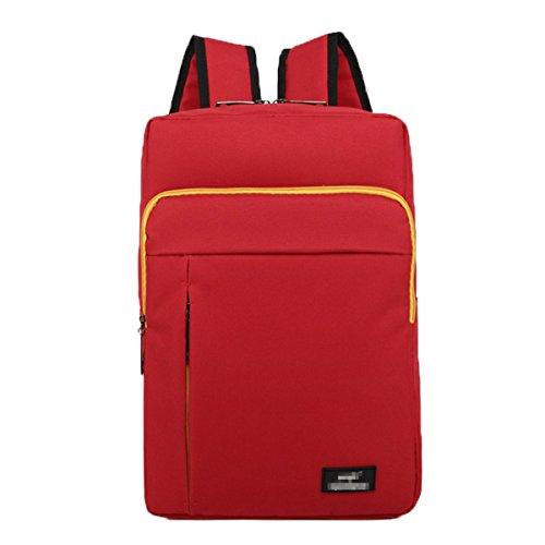 Rucksack Freizeit Mehrfarbige Schultasche Outdoor Sports Notebook Computer Tasche,Red-M