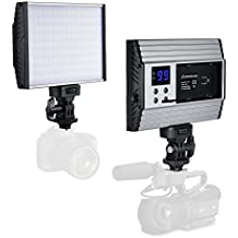 Zecti Luz LED de Video Súper Delgada (144LED 3200-5600K 1500LM) LED Video