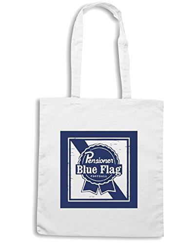 T-Shirtshock - Borsa Shopping WC0248 CHELSEA T-SHIRT - BLUE FLAG BEER Bianco