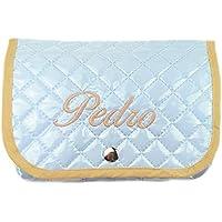 Funda toallitas bebé de pique plastificado personalizado.