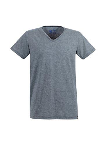 Trigema Herren T-Shirt 637703 Grau (Steingrau-Melange 246)
