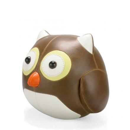 Züny Eule Cicci Buch- und Türstopper Groß Braun (Owl Brown-White)