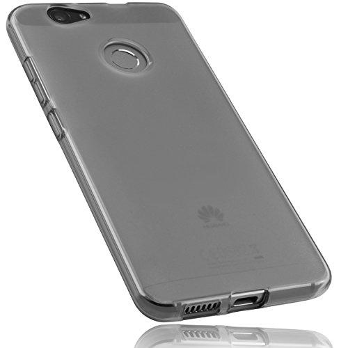mumbi Schutzhülle für Huawei Nova Hülle transparent schwarz