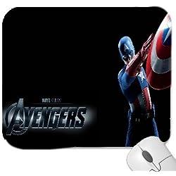 A los Vengadores Capitán América alfombrilla de ratón Premium calidad gruesa de goma alfombrilla de ratón con tacto suave,