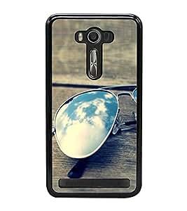 Sunglasses on a Bench 2D Hard Polycarbonate Designer Back Case Cover for Asus Zenfone Selfie ZD551KL