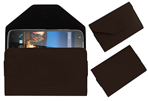Acm Premium Pouch Case For Xolo Q700s+ Plus Flip Flap Cover Holder Brown  available at amazon for Rs.179