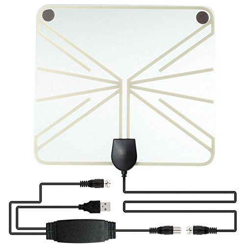 Hanbaili 50 Mile Range TV Antenne, HDTV Thin Indoor Antenne HDTV Antenne Indoor HDTV Antenne Signalempfänger (100 Mile Indoor-tv-antenne)