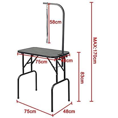 Beyondfashion 75cm x 46cm x 82cm Portable Foldable Dog Pet Large Grooming Table Excellent Working Platform Waterproof… 3