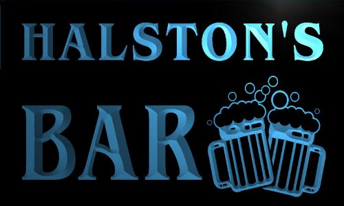 w111350-b-halston-name-home-bar-pub-beer-mugs-cheers-neon-light-sign