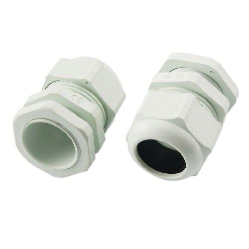 sourcingmap® 2 Stück Weiß Plastik PG25 wasserdicht Edelstahl Kabel Kabelverschraubungen de -