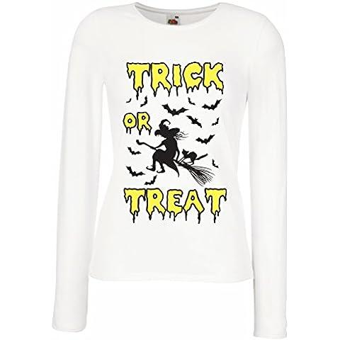 N4641M Maniche lunghe femminili T-shirt Trick or Treat