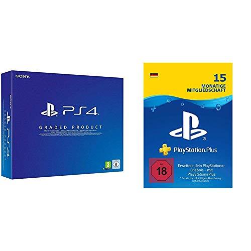 PlayStation 4  (500GB, Generalüberholt, E Chassis) + PlayStation Plus Mitgliedschaft: 15 Monate