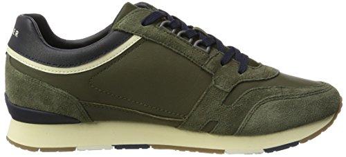 Tommy Hilfiger Herren L2285eeds 1 C2 Sneaker Dekollete Grün (Dusty Olive)