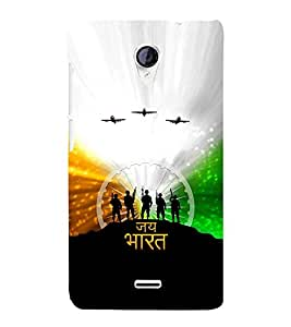 printtech Indian Independence Jai Bharat Back Case Cover for Micromax Canvas Unite 2 A106