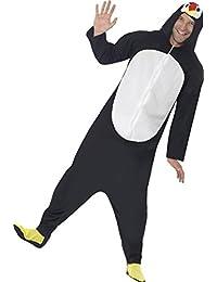 Smiffys, Herren Pinguin Kostüm, All-in-One mit Kapuze, Größe: L, 23632