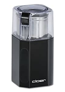 Cloer 7580 Elektrische Kaffeemühle / 200 W / für 70 g Kaffeebohnen / abnembarer Edelstahlbehälter / schwarz