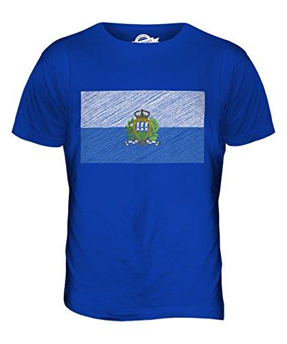 CandyMix San Marino Kritzelte Flagge Herren T Shirt Königsblau