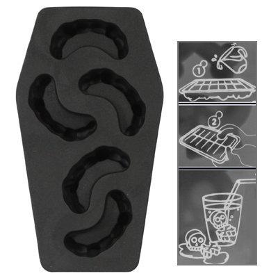 würfelschale aus Silikon / Lustige Eiswürfel - Cool Blooded Vampirzähne Halloween in Sarg Form - 5er Form (Sarg-form)