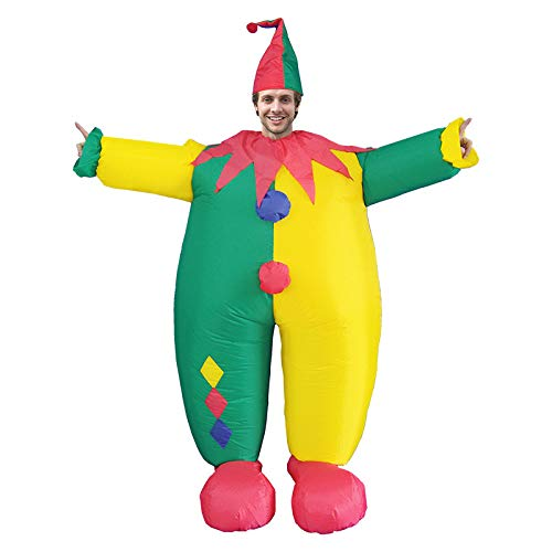 Adult Fat Clown Aufblasbares Kostüm Für Halloween Weihnachtsfeier Karneval Maskerade Cosplay Air Suit,C-Adult(150-190cm)