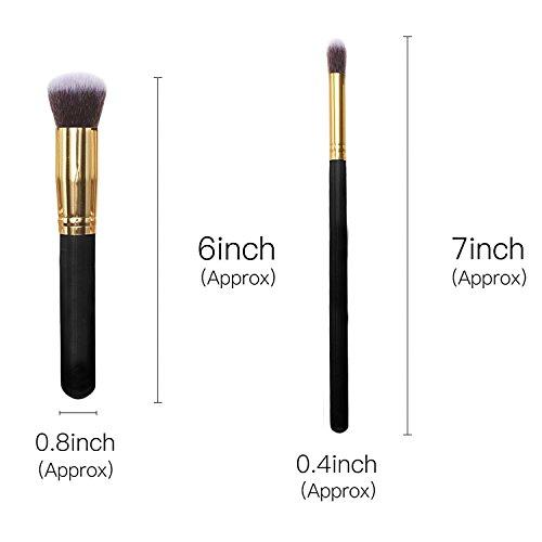 Make Up Pinsel Set, VALUE MAKERS® 10 Teiliges Premium Schminkpinsel Set-Make-Up Pinselset Kosmetik Kabuki Pinsel Sets - 3