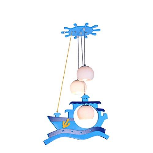 Sky Blue Persönlichkeit Kinderzimmer Leuchten Schlafzimmer Lichter Jungen-Mädchen-Cartoon-Lichter Kronleuchter Kreative Kindliche Lampen