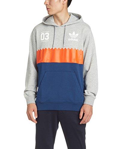 Adidas Serrated Hoody Herren Sweatshirt S Grau / Blau (Adidas Sweatshirt Hoody)
