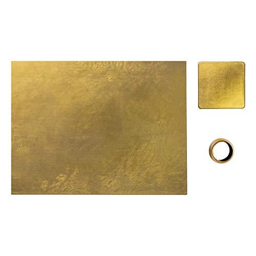 Tischset/Untersetzer/Serviettenringe - Gold - Satz von 18 ()