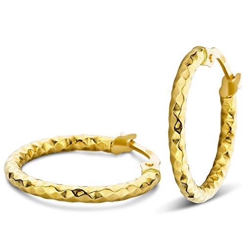 Orovi Ohrringe Damen Gelbgold 14 Karat/585 Gold Creolen