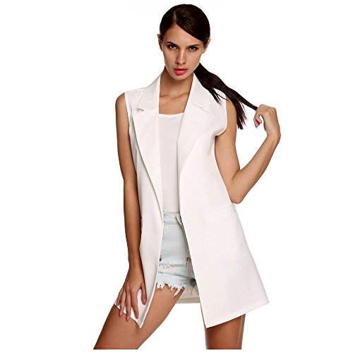 Sondereu - Gilet - Femme Weiß
