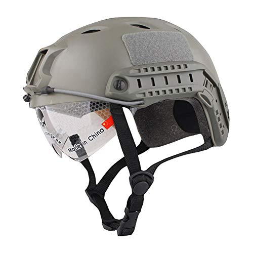 Hihey Fahrradhelm widerstandsfähiger Helm mit Schutzbrille Unisex Erwachsene Fahrradhelm