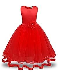 Vestido de niña,Lenfesh Princesas Vestido de Niñas Chicas Vestido de Sin Mangas Vestido con