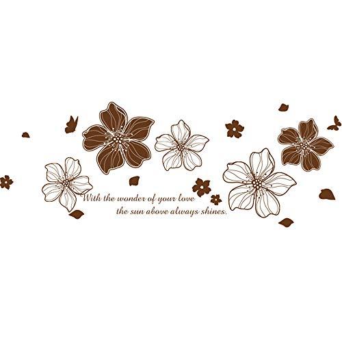Xcao Flores Etiqueta De La Pared De Vinilo Diy Mural Para La Casa Sala De Estar Dormitorio Matrimonio Decoración De La Habitación