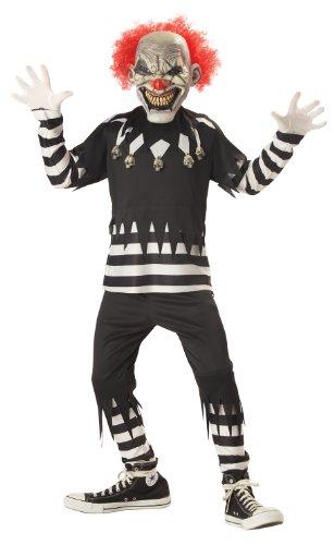 Creepy Clown Boy's Costume, Medium, One Color