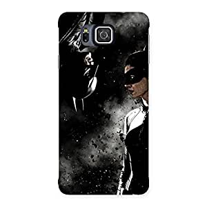 Knight Boy and Girl Back Case Cover for Galaxy Alpha
