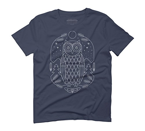 Night Life Men's Graphic T-Shirt - Design By Humans Navy