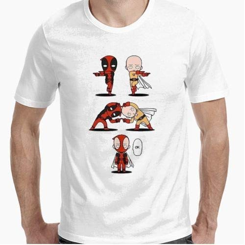 Camiseta - diseño Original - One Punch Man Deadpool -...
